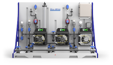 CHEM-FEED Plastic Triplex Skid Delivers Precise Chemical Feed