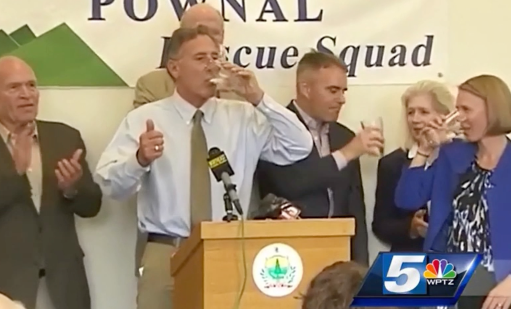 Governor Drinks Pownal Water To Prove It's Safe