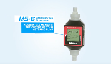 MS-6 Chemical Feed Flowmeter for Municipal Applications